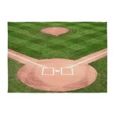 Kids baseball 5x7 Rugs