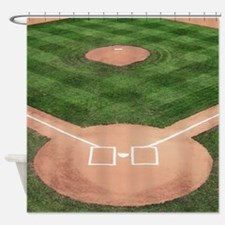 Baseball Diamond Shower Curtain