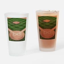 Baseball Diamond Drinking Glass