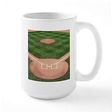 Baseball Diamond Large Mug