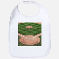 Baseball Diamond Bib