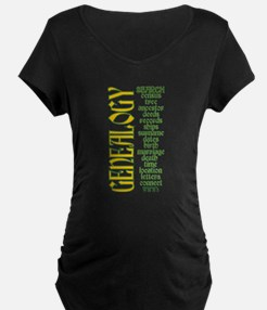 Genealogy List Maternity T-Shirt