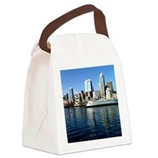 Seattle Waterfront Canvas Lunch Bag