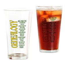 Cute Genealogist Drinking Glass