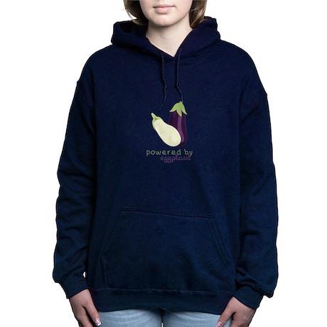 Powered By Eggplant Women's Hooded Sweatshirt