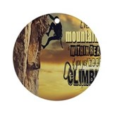 Rock climbing Round Ornaments