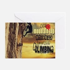 Funny Rock climbing Greeting Card