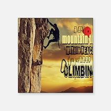 "Funny Rock climbing Square Sticker 3"" x 3"""