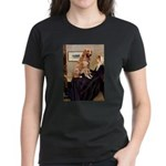 Mom's Golden Retrieve Women's Dark T-Shirt