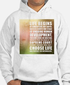 Life Begins At Conception Hoodie