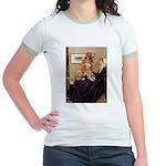 Mom's Golden Retrieve Jr. Ringer T-Shirt