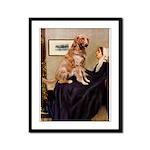 Mom's Golden Retrieve Framed Panel Print
