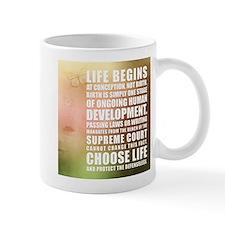 Life Begins At Conception Mugs