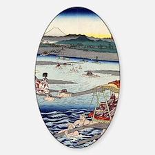 Oi River In Shunen - Hiroshige Ando Sticker (Oval)