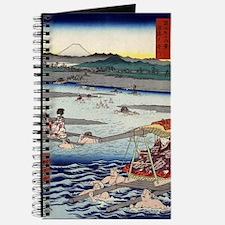 Oi River In Shunen - Hiroshige Ando - 1858 Journal