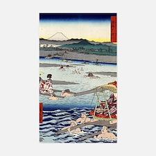 Oi River In Shunen - Hiroshige Decal