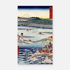 Oi River In Shunen - Hiroshig Rectangle Car Magnet