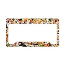 Mixed beans License Plate Holder