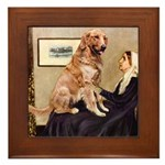 Mom's Golden Retrieve Framed Tile