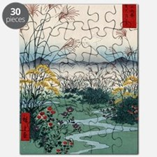 Otsuki Fields In Kai Province - Hiroshige A Puzzle