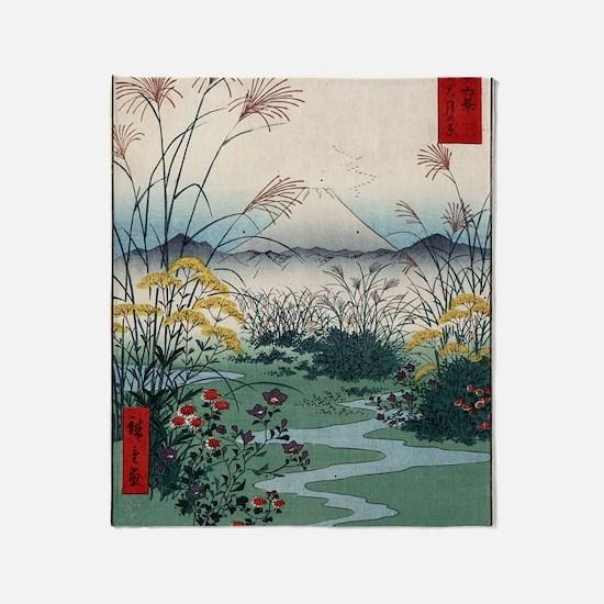 Otsuki Fields In Kai Province - Hiro Throw Blanket