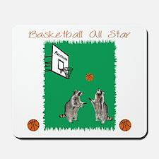 Basketball Raccoon Mousepad