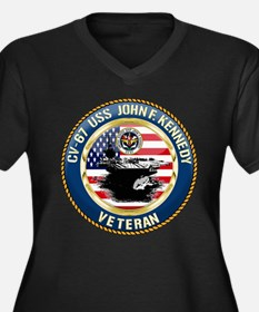CV-67 USS Jo Women's Plus Size V-Neck Dark T-Shirt
