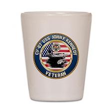 CV-67 USS John F. Kennedy Shot Glass