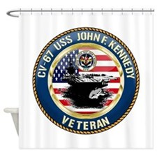 CV-67 USS John F. Kennedy Shower Curtain