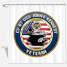 CV-67 USS John F. Kennedy Shower Curtain