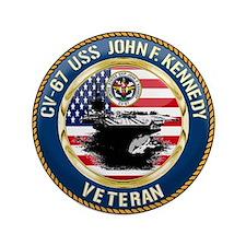 """CV-67 USS John F. Kennedy 3.5"""" Button (100 pack)"""