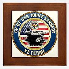 CV-67 USS John F. Kennedy Framed Tile