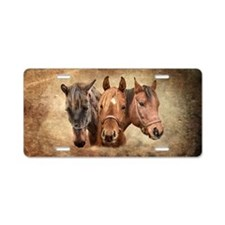 Cute Horse Aluminum License Plate