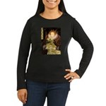 The Queen's Golden Women's Long Sleeve Dark T-Shir