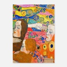 Gustav Klimt, Hope ii 5'x7'Area Rug
