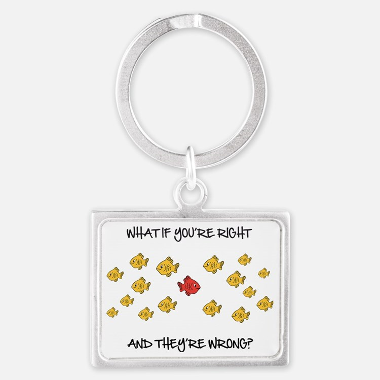 What if you're right Landscape Keychain