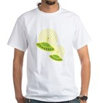 Retro Flying Saucers White T-Shirt