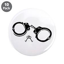 """Handcuffs keys 3.5"""" Button (10 pack)"""