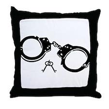Handcuffs keys Throw Pillow
