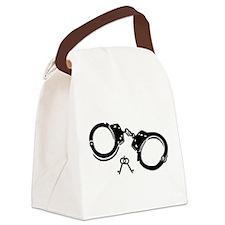 Handcuffs keys Canvas Lunch Bag