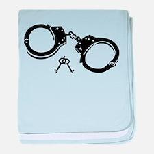 Handcuffs keys baby blanket