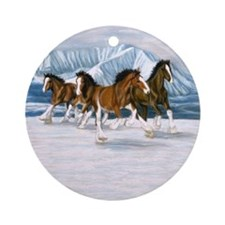 Clydesdales Round Ornament