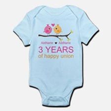 3rd Year Anniversary Personalized Infant Bodysuit