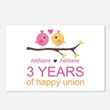 3rd Year Anniversary Pers Postcards (Package of 8)