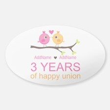 3rd Year Anniversary Personal Sticker (Oval 10 pk)