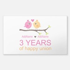 3rd Year Anniversary Per Decal