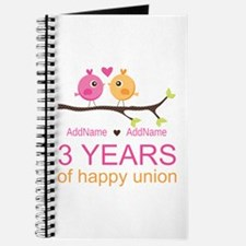 3rd Year Anniversary Personalized Journal