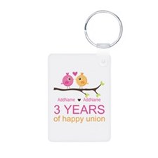 3rd Year Anniversary Perso Keychains
