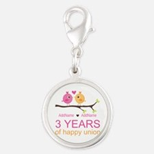 3rd Year Anniversary Personali Silver Round Charm