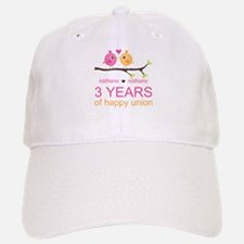 3rd Year Anniversary Personalized Baseball Baseball Cap
